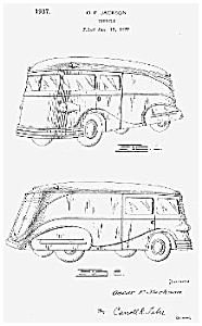 Patent Art: Cool 1937 Streamlined Truck - Matted