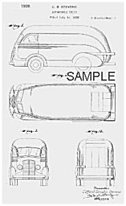 Patent Art: 1930s Brooks Stevens Streamline Truck