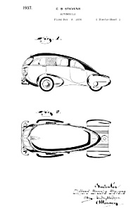 Patent Art: 1930s Brooks Stevens Streamline Car