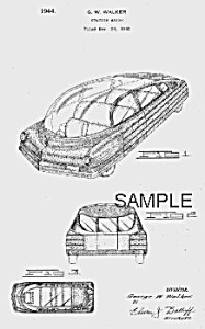 Patent Art: 1940s Bohn Future Streamlined Car - Matted
