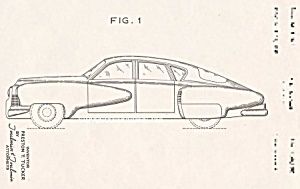 Patent Art: 1948 Tucker Automobile - Matted