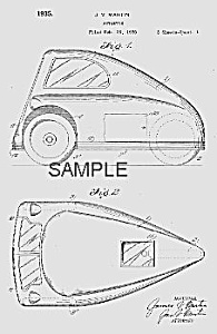 Patent Art: 1935 Autoette 3-wheeled Car - Matted