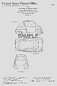 Patent Art: Cool 1954 Iso Isetta Microcar - Matted