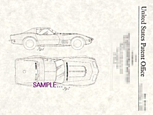 Patent Art: 1968 Corvette Automobile - Matted