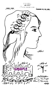 Patent Art: 1920s Hair Wave Device - 5x7 - Matted