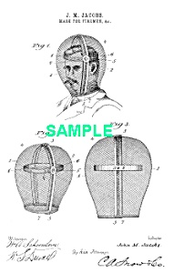 Patent Art: 1890s Fireman Mask - Matted