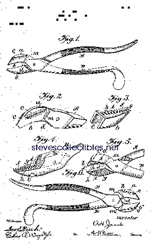 Patent Art: 1901 Dental Forceps - Matted Print