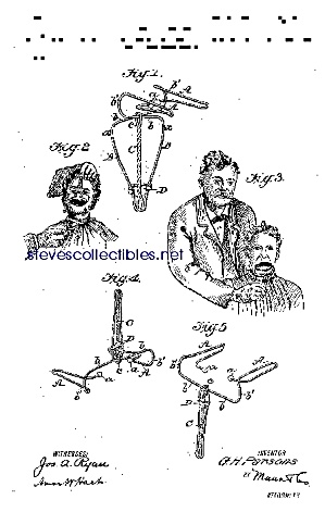 Patent Art: 1910s Dental Dilating Forceps-matted Print