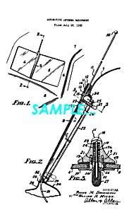 Patent Art: Pre-war Crosley Automobile Antenna - Matted