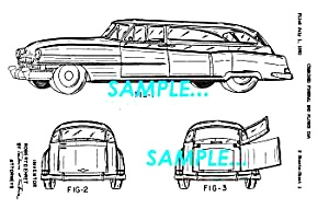 Patent Art: 1953 Cadillac Funeral Car - Matted