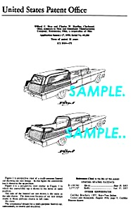 Patent Art: 1958 Cadillac Funeral Car - Matted
