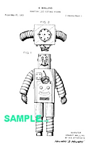 Patent Art: 1950s Westinghouse Robot - Matted