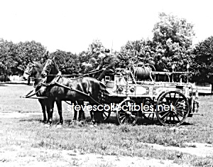 C.1911 York, Pa Horse Drawn Fire Engine Photo - 8 X 10