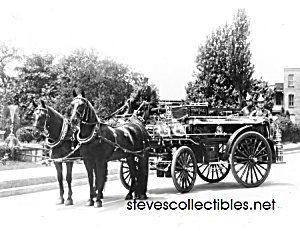 C.1911 York, Pa Horse Drawn Fire Engine Photo C -8 X 10
