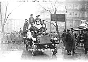 1913 Nyc Engine 91 Fire Truck Photo - 8 X 10