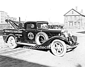 Early Springfield Tow Truck Wrecker Photo - 8 X 10