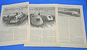 1927 Seagrave Daytona Beach Auto Racing Mag Article