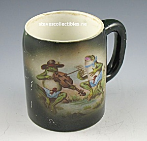 Advertising Stein - Frog Musician Old Taylor Smith Taylor
