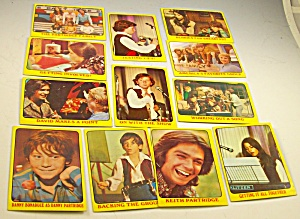 1971 Partridge Family 12 Yellow Collector Cards Lot 2