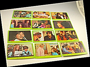 1971 Partridge Family 12 Green Collector Cards Lot 2