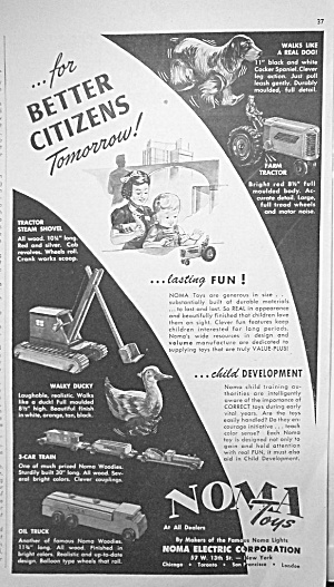 1945 Noma Construction Toy Ad