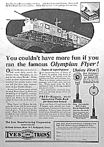 1926 Ives Train Toy Ad Full Pg.