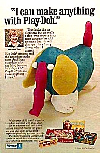 1974 Play-doh Toy Nostalgia Ad Remember?