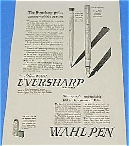 1925 Wahl Fountain Pen/pencil Ad - Cool