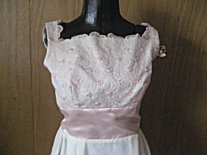 Pink Lace And Satin 60s Formal