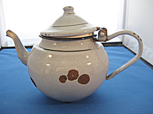 Grey Enamel Tea Pot