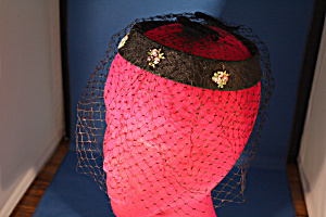 Flower And Net Hat