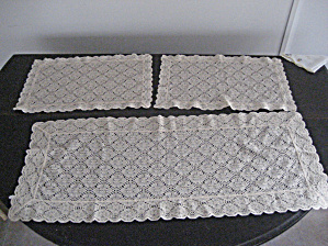 3 Couch Doilies