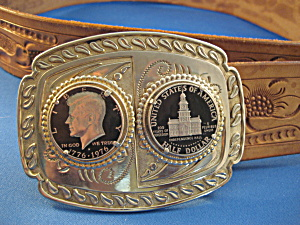 Kennedy Buckle And Leather Belt