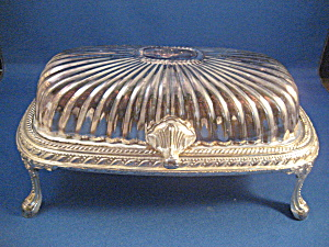 Silver Plated Rogers Footed Butter Dish