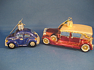 Two Car Ornaments