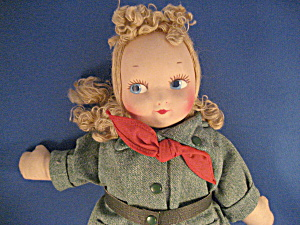 Soft Body And Head Gril Scout Doll From Georgine Averill