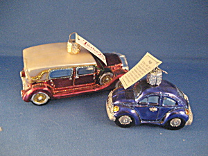 Two Vintage Car Ornaments