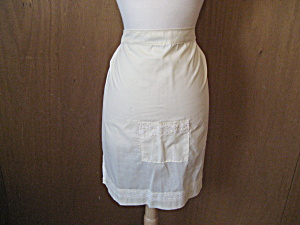 Vintage Material Yellow Apron