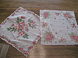Two Flowered Hankerchiefs