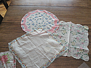 Three Flowered Handkerchiefs