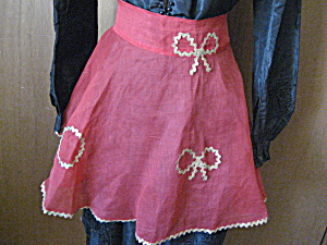 Christmas Apron With Gold Ribbon