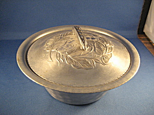 Lidded Aluminum Bowl With Pyrex Dish Inside