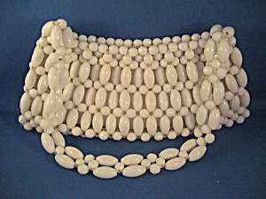 White Beaded Purse