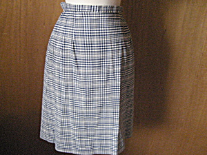 Blue Checkered Skirt