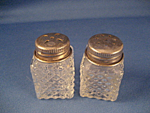 Small Silver Capped Salt And Pepper Shakers