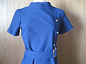 Blue Burt Stanley Belted Dress