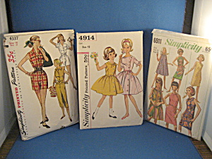 Three Simplicity Patterns From The Sixties