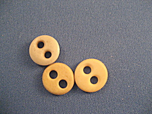 Three Very Old Bone Buttons