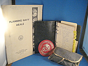 Navy Meal Planner, Notebook, And Sewing Kit