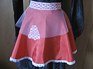 Lace And Satin Christmas Apron
